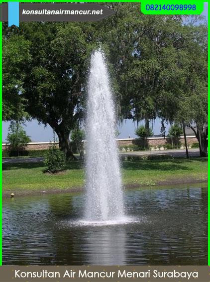 Hasil penggunaan nozzle ice tower saat di aplikasikan di kolam