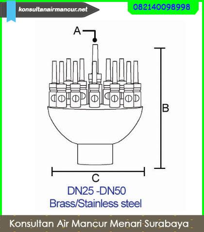 Jual spare Part air mancur nozzle adjust Blossom Berkualitas