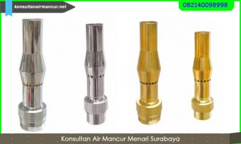 Nozzle stainless dan kuningan frothy nozzle air mancur