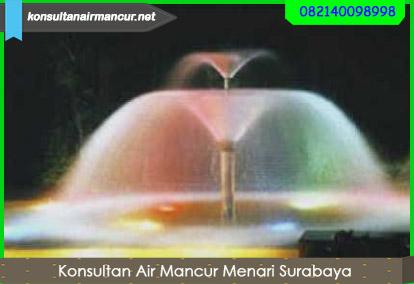 Contoh pengaplikasian nozzle air mancur double layer trumpet