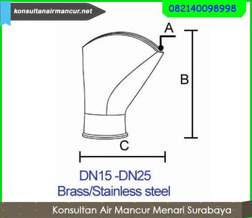 Dimater Nozzle air mancur fan nozzle