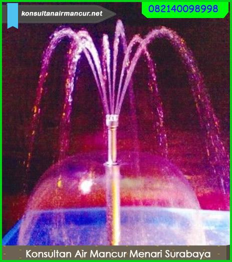 Hasil penggunaan nozzle saat di aplikasikan di kolam