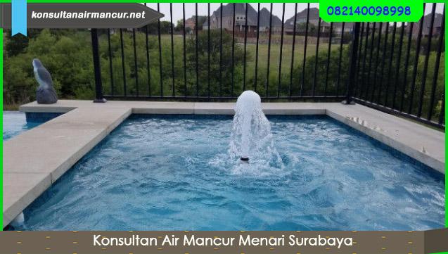 Nozzle air mancur di kolam renang