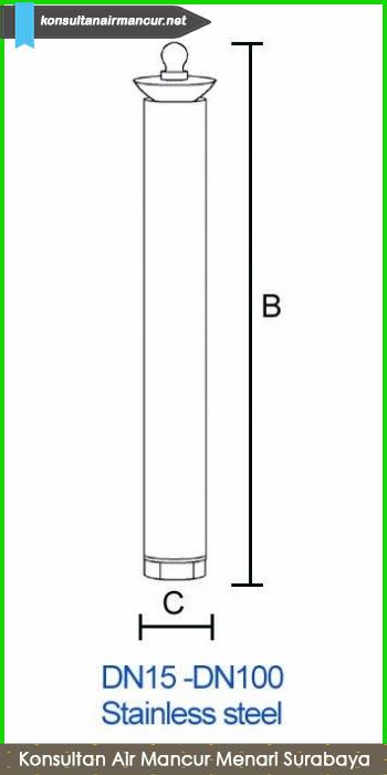 Ukuran air mancur surabaya nozzle trumpet